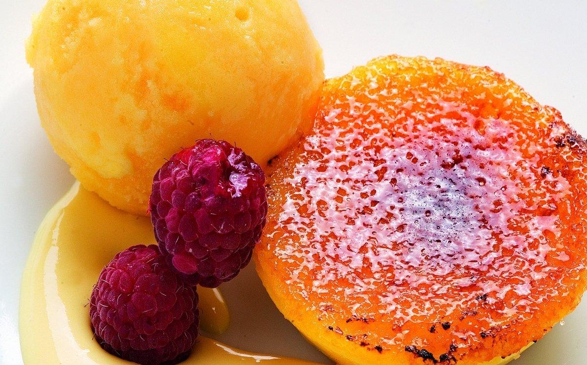 Crema de taronja al forn