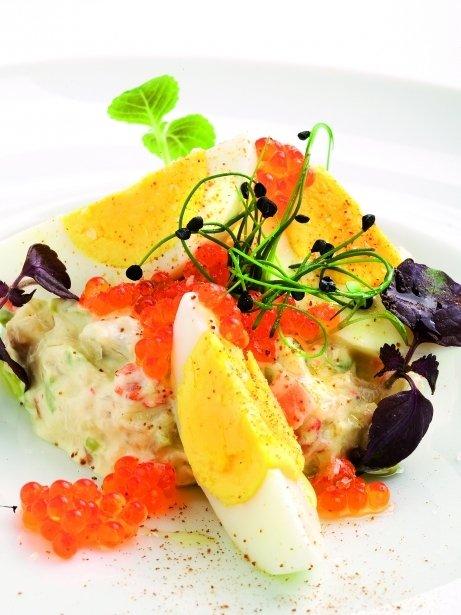 Amanida russa de peix amb maionesa de wasabi