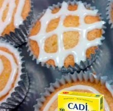 'Cupcakes' de xocolata blanca amb glacejat de llimona