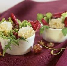 Miniamanides amb flor de parmesà
