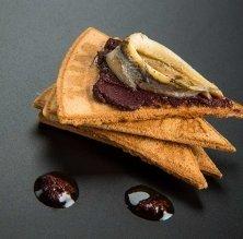Ventalls de xocolata amb plàtan caramel·litzat