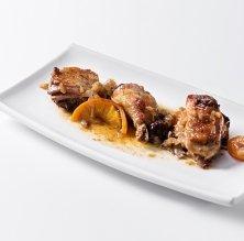 Gall negre del Penedès a la catalana del restaurant Can Belles