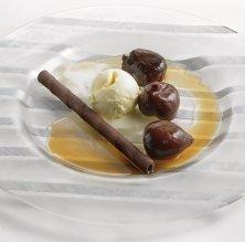 Figues confitades amb gelat de vainilla de Papantla