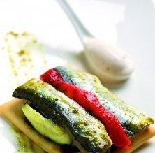 Coca de verdures i sardina