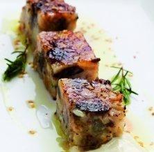 Terrina de porc amb salsa agredolça
