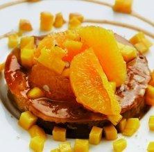 Tatin de mango i taronja