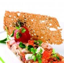 Tàrtar d'escamarlans amb caviar de salmó