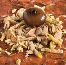 Carpaccio de magret d'ànec amb encenalls de foie gras