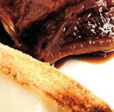 Espatlleta de cabrit amb fondue de formatge