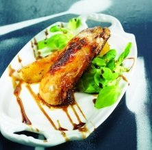 foie fresc a la paella amb pera