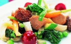 Mezcla primaveral y de setas, verdura y fruta