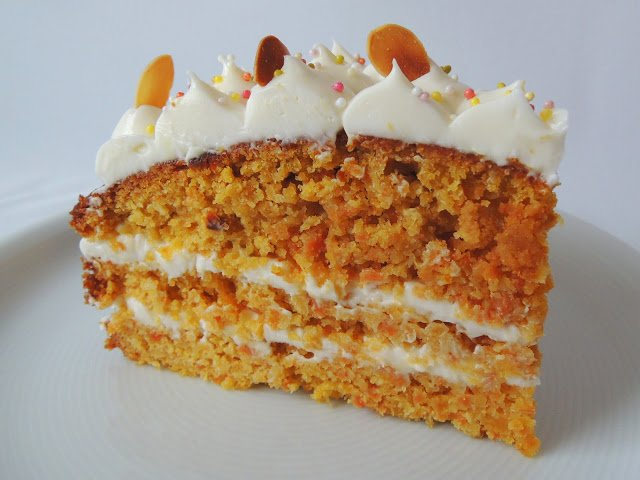 Porció de carrot cake