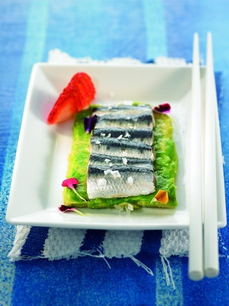 Sardines marinades amb tres sabors