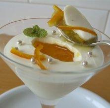 Pannacotta de iogurt i taronja