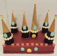 Pastis castell de xocolata