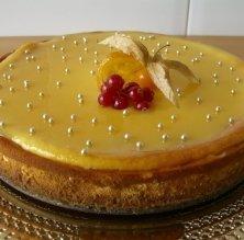 Pastís de formatge i lemon curd