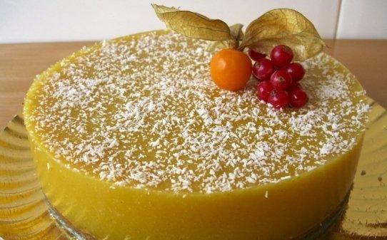 Pastís de mango amb agar-agar