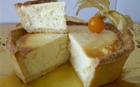 Pastís rústic de formatge de cabra