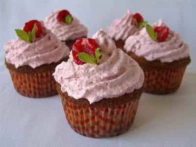 Cupcakes de fruta roja