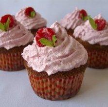 Cupcakes de fruita vermella