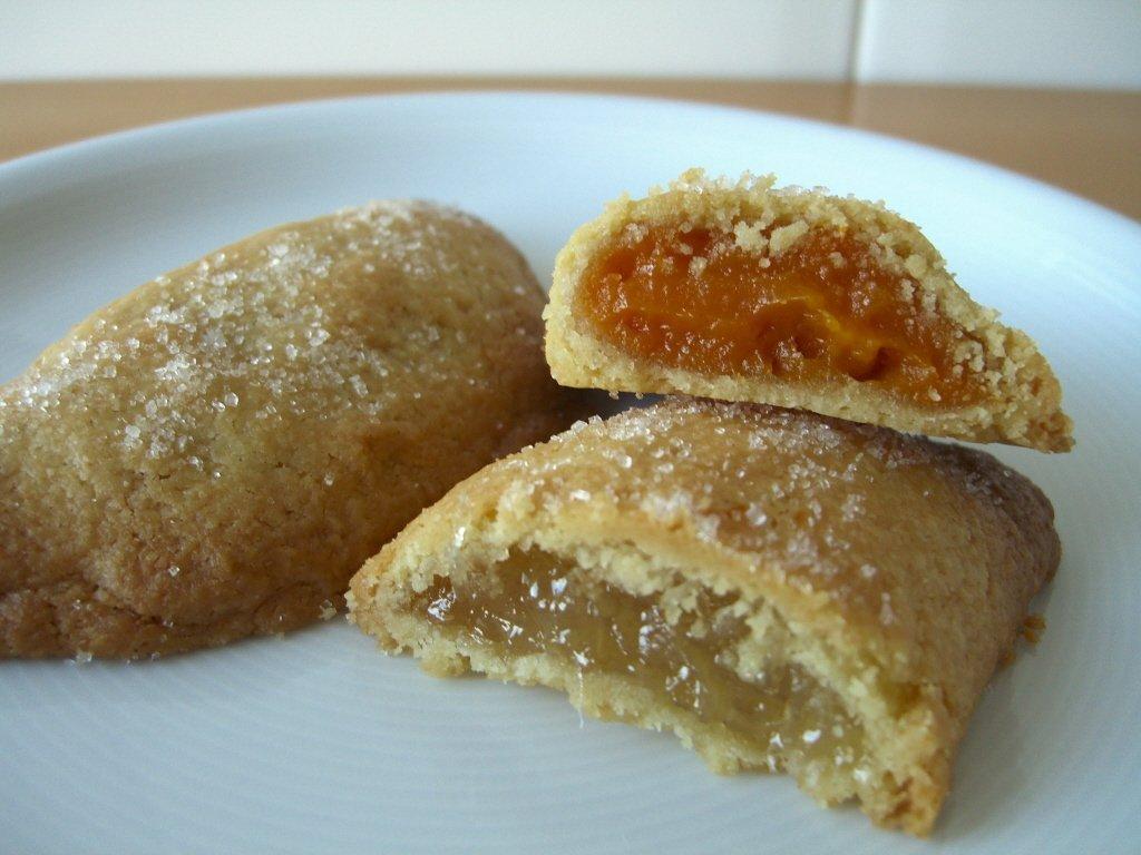 Pastissets de moniato y cabello de ángel