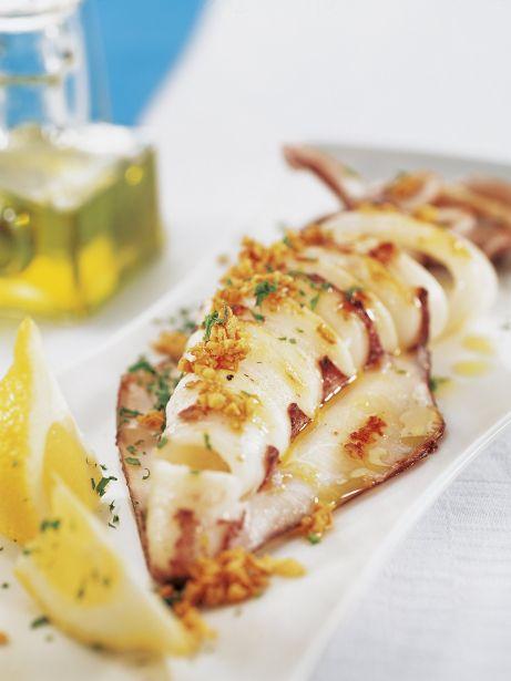 Calamares A La Plancha Con Ajo Y Perejil
