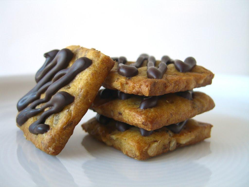 Galetes de carbassa, avellanes i xocolata