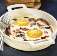 Cassola d'ous, tòfona i pernil
