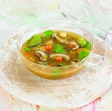 Sopa de créixens, gingebre i xiitake