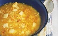 Arroz caldoso de sepia y coliflor