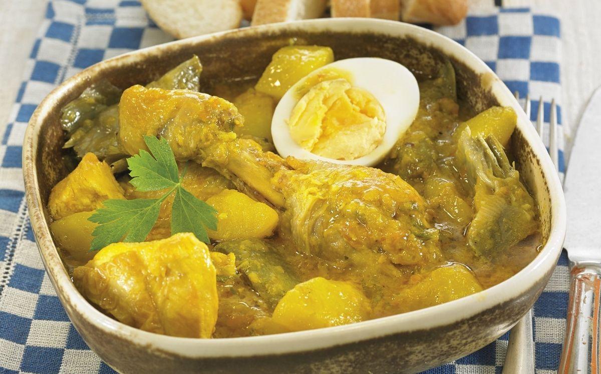 Guisat de pollastre amb carxofa