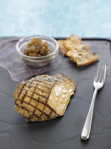 Foie gras amb 'zatar' i caviar d'albergínia