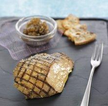 Foie gras al 'zàtar' i caviar d'albergínia