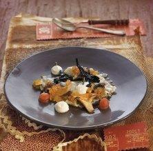 Raviolis de bolets amb formatge de cabra