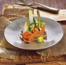 Verdures de tardor, moniato i oli d'avellanes