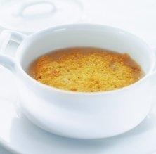 Sopa ràpida d'all, torrada i gratinada