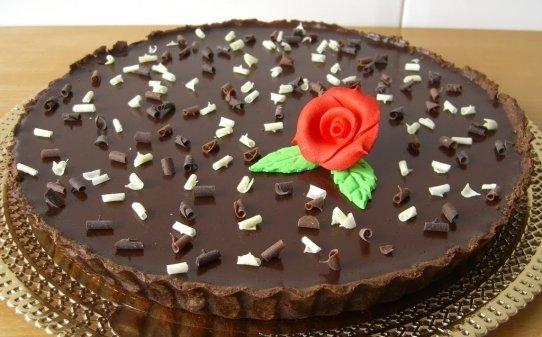 Tarta toffee con chocolate