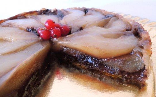 Tatin de pera i xocolata