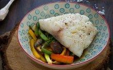 Bacallà Skrei amb wok de verdures