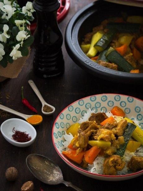 Tagín de xai i verdures