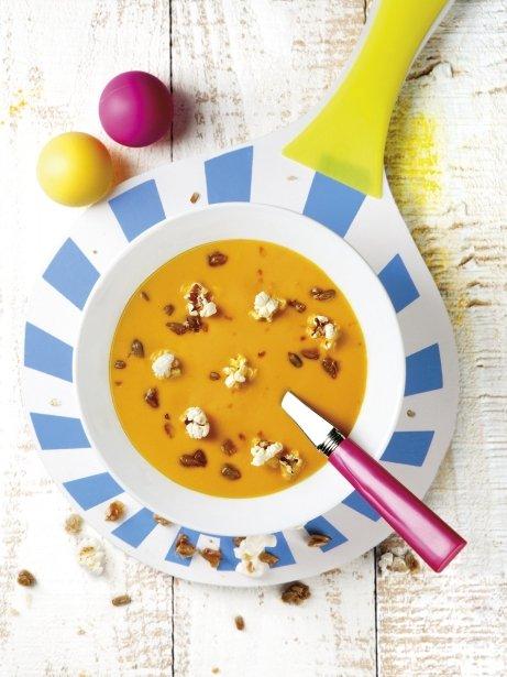 Crema de carbassa amb pipes  i crispetes