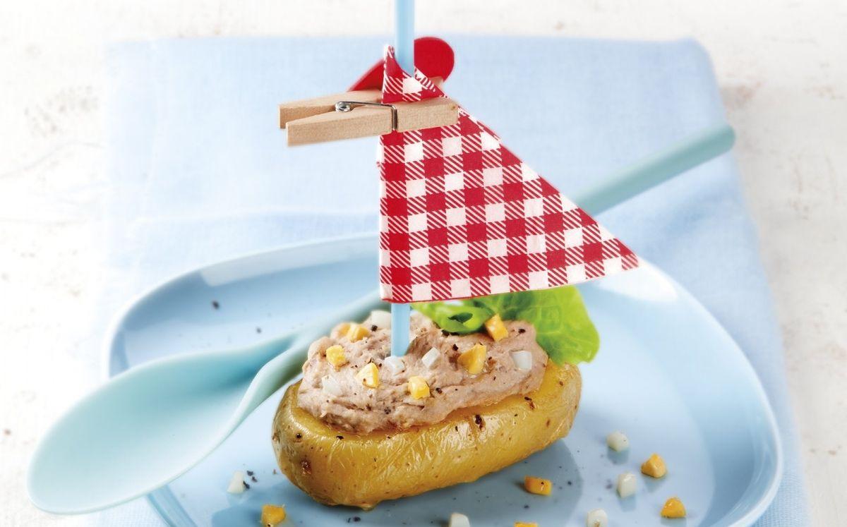 Patates mini farcides de paté de sardina