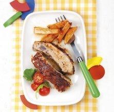 Costelles de porc amb moniato
