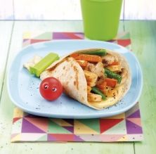 Durum amb pollastre i verdures