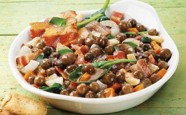 Pèsols negres amb cansalada, la recepta guanyadora de 2016