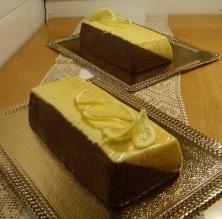 Bávara de limón y chocolate
