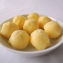 Bombons líquids de xocolata blanca i llimona