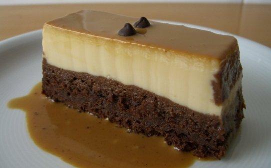 Brownie–flam o 'pastís màgic'