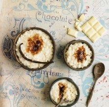 Arròs amb llet i xocolata blanca