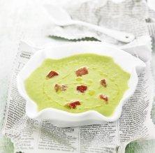 Crema freda d'espàrrecs verds amb tomàquets secs
